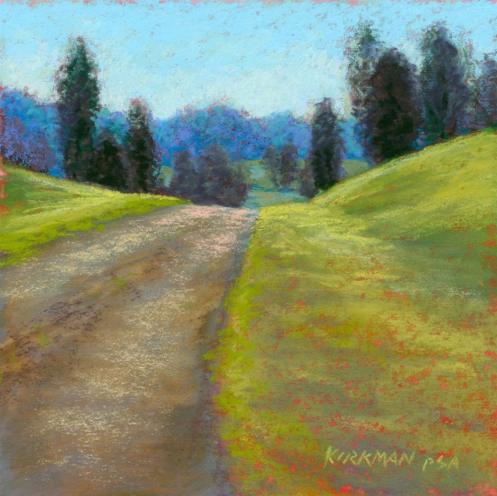 """Over The Hill"" original fine art by Rita Kirkman"