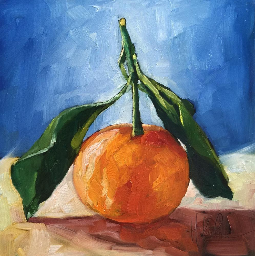"""Satsuma"" original fine art by Hallie Kohn"