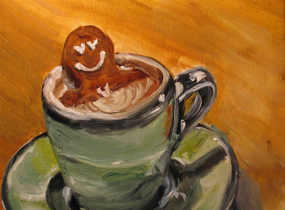 """Hot Tubbin'"" original fine art by Susan Elizabeth Jones"