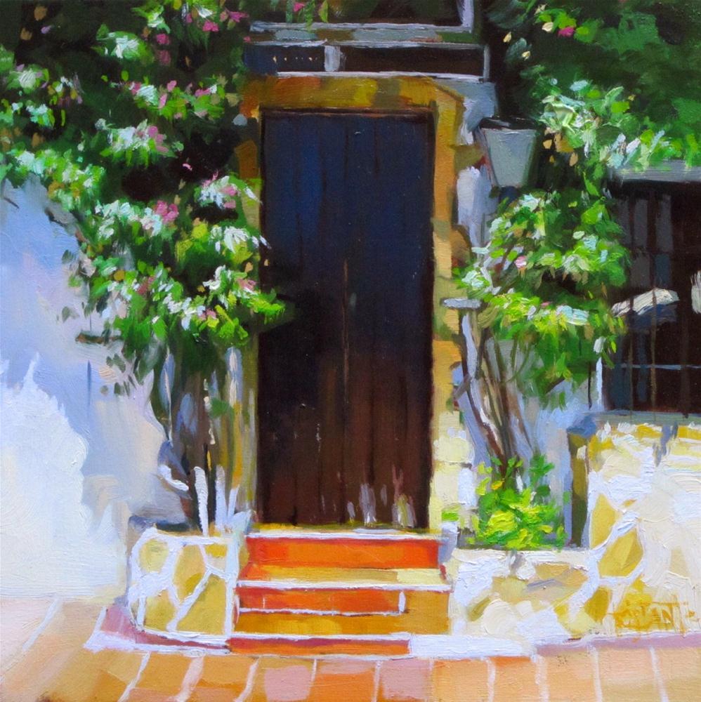 """""""Flowering door"""" original fine art by Víctor Tristante"""