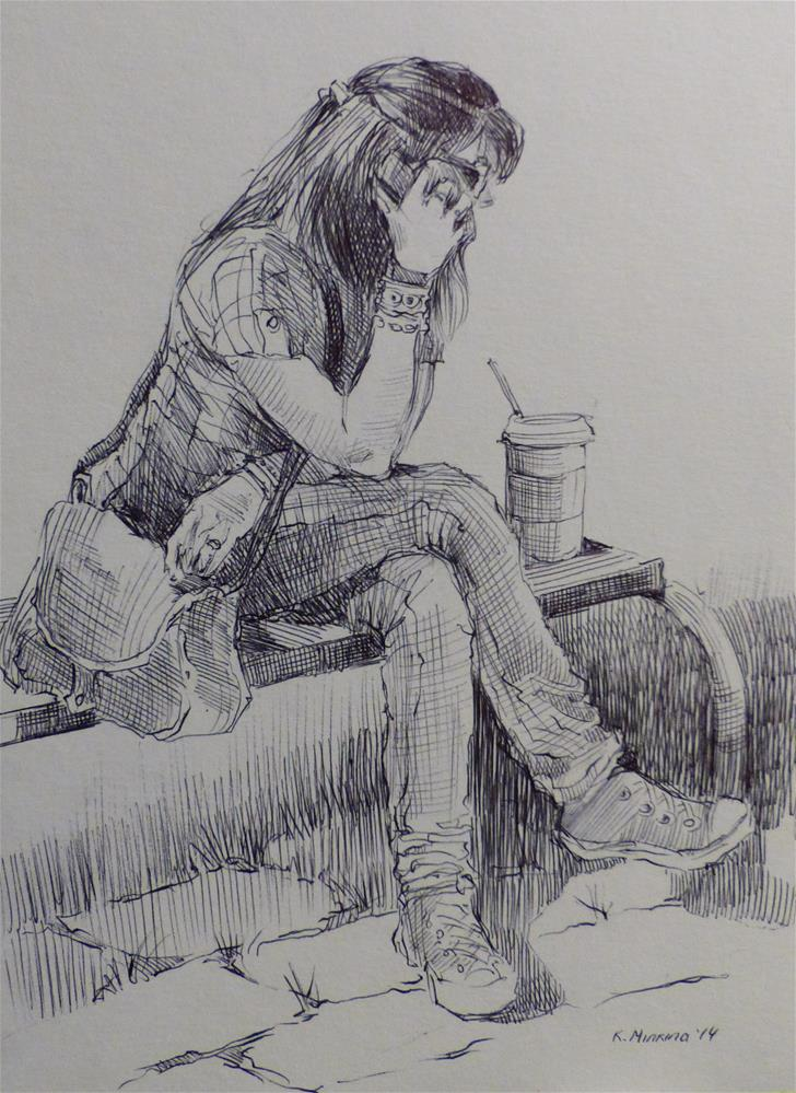 """500Faces-161"" original fine art by Katya Minkina"