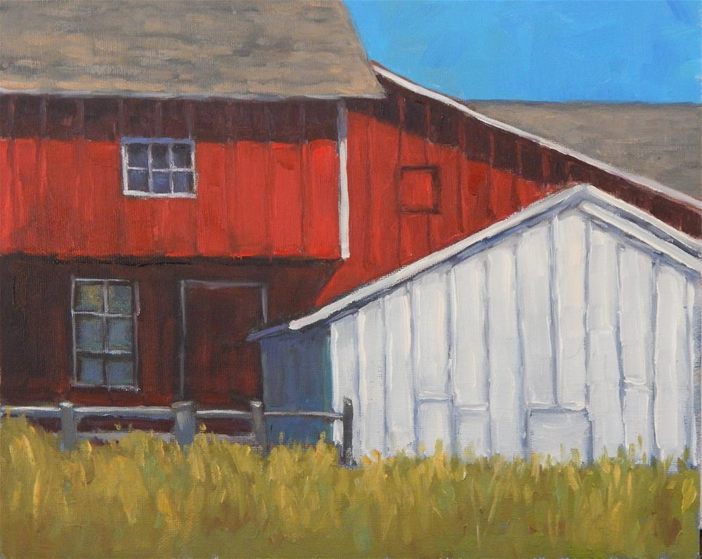 """Barn Composition"" original fine art by Lisa Kyle"
