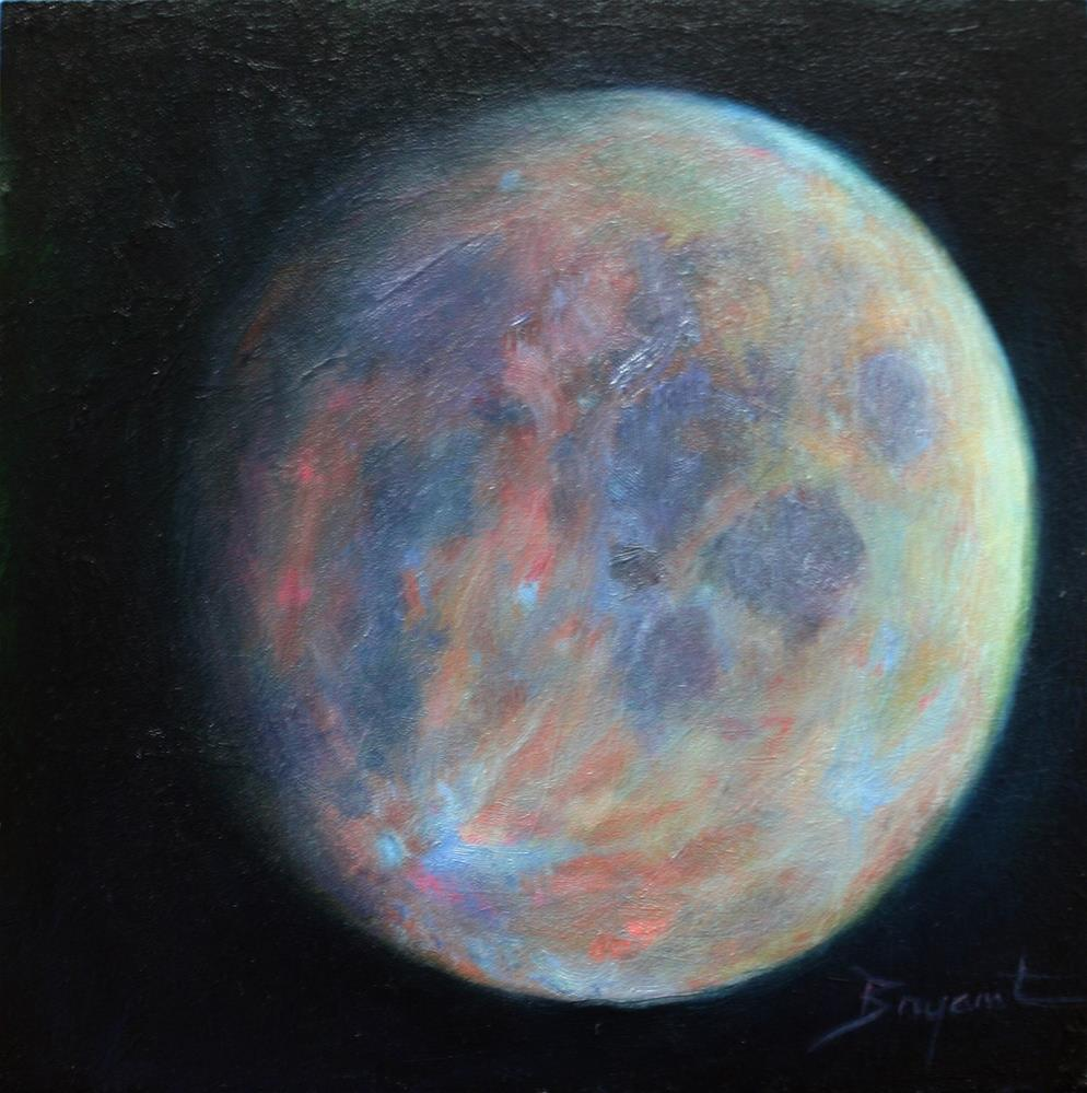 """I See the Moon in Color"" original fine art by Debra Bryant"