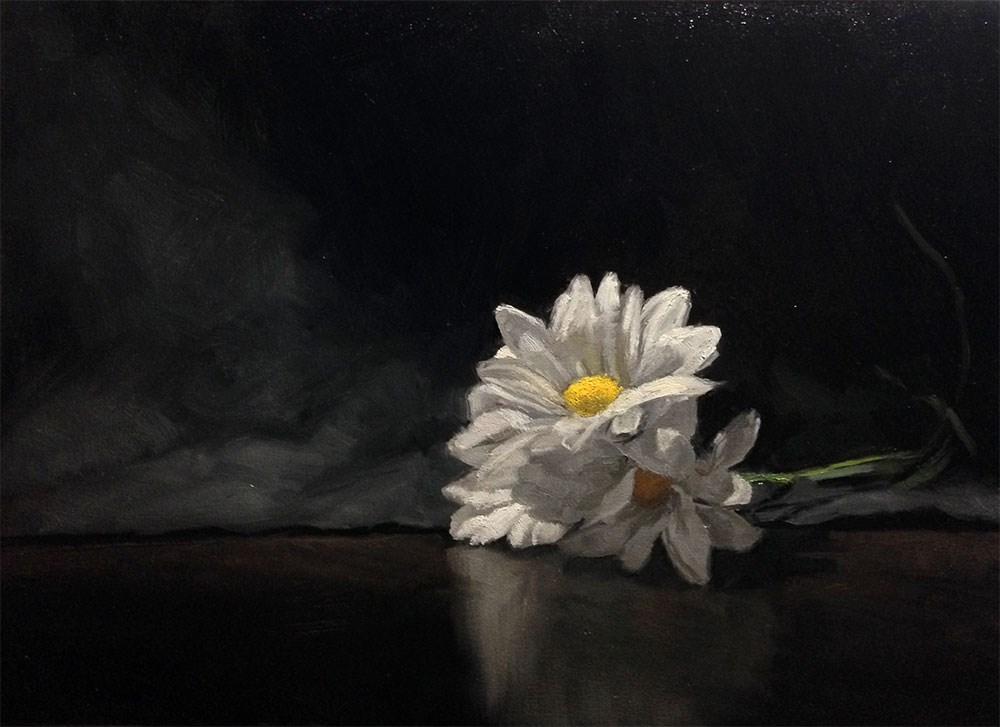 """Three Daisies"" original fine art by Chris Beaven"