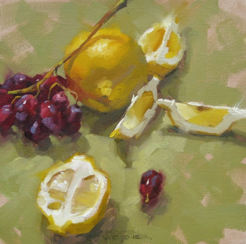 """Lemon & Grape Junction"" original fine art by Karen Werner"