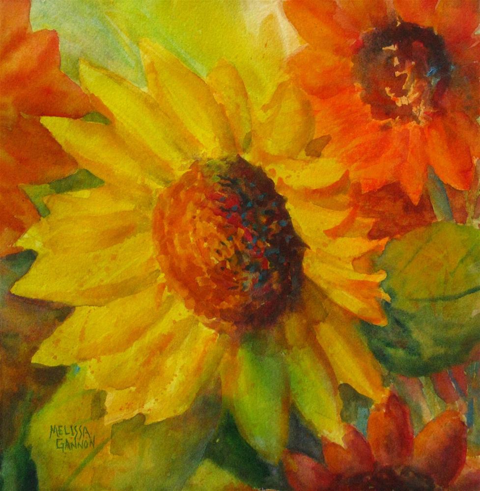 """Sunflower Musical"" original fine art by Melissa Gannon"