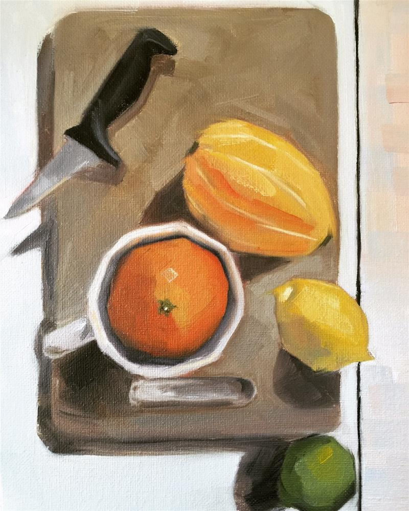 """348 Serious Fruit"" original fine art by Jenny Doh"