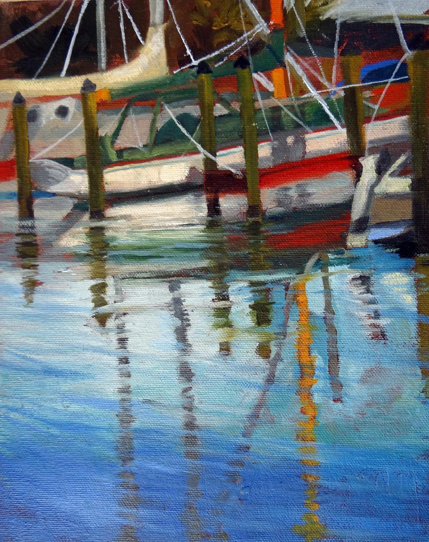 """Marina Reflections"" original fine art by Nancy Paris Pruden"