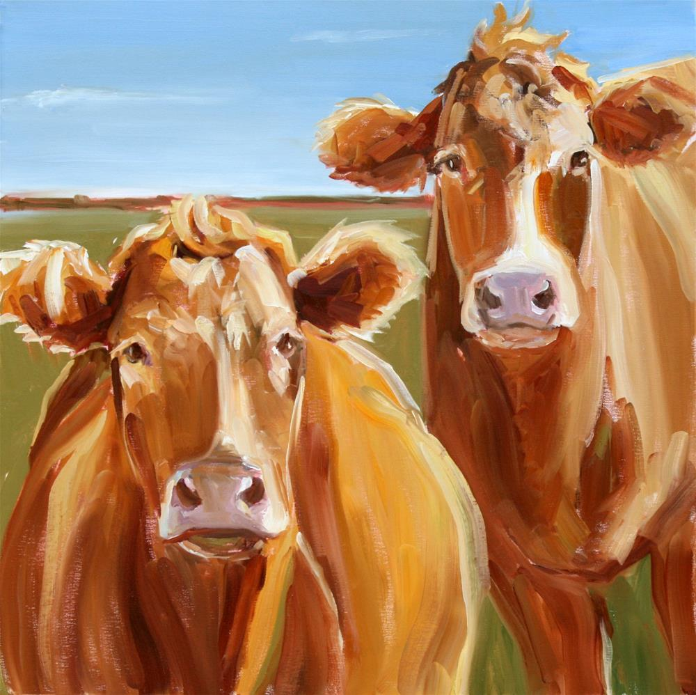 """Lauren's cows"" original fine art by Carol Carmichael"