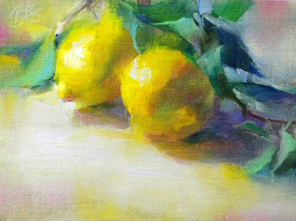 """Lemons"" original fine art by Pamela Blaies"
