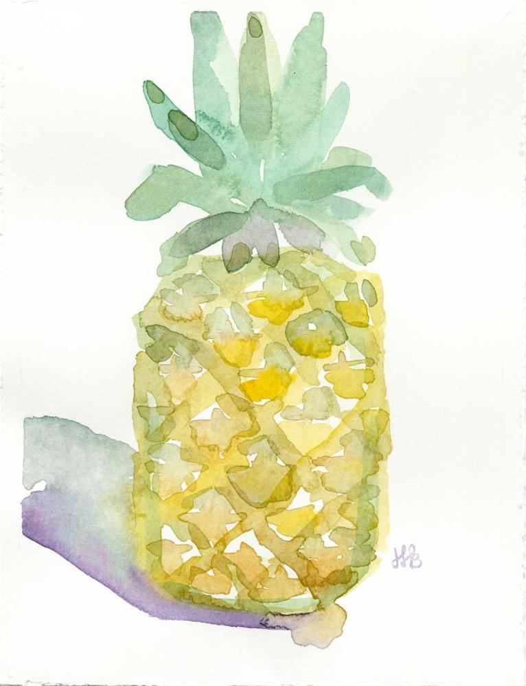 """Pineapple Please"" original fine art by Heather Bennett"