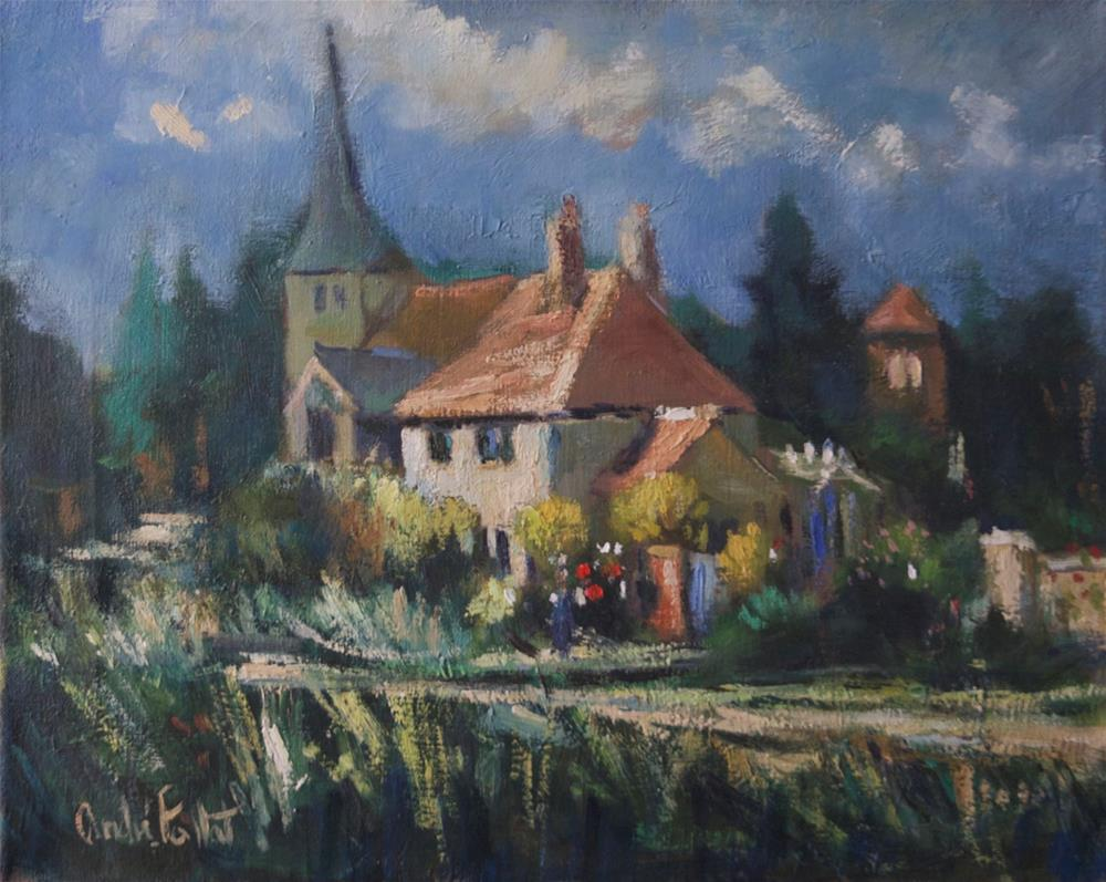 """Cottage at Bury"" original fine art by Andre Pallat"