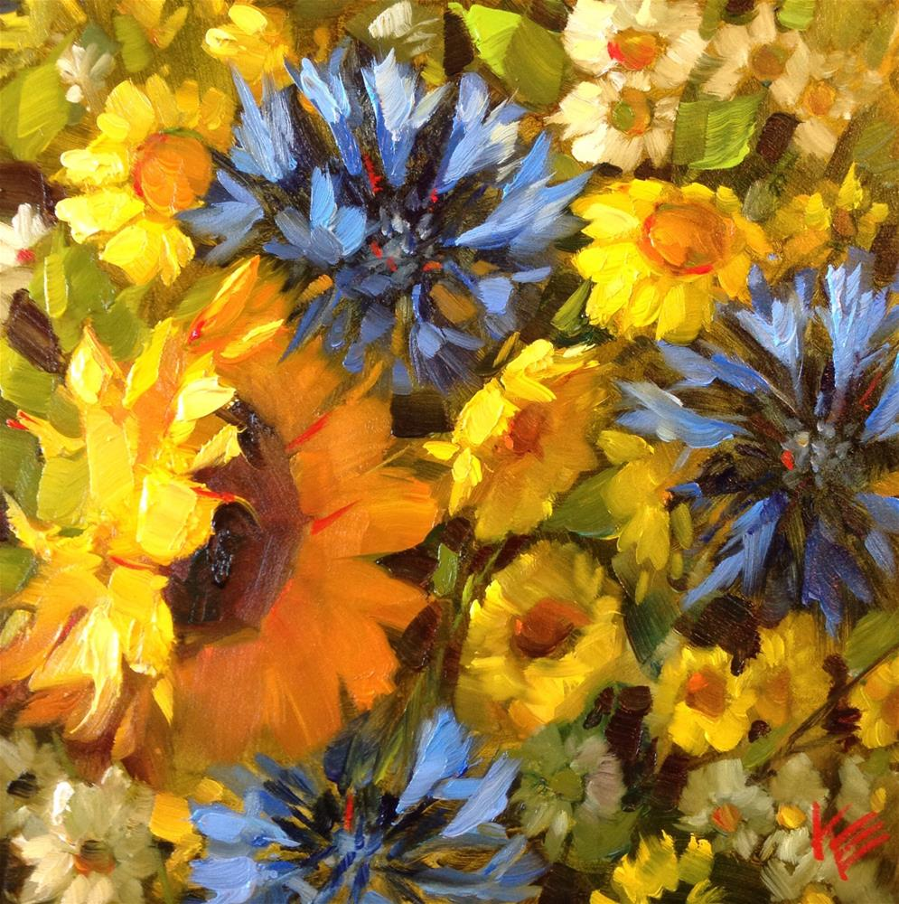 """~ Corn Flowers ~"" original fine art by Krista Eaton"
