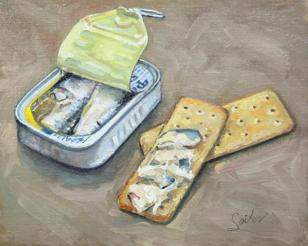 """Sardines & Crackers"" original fine art by Larry Seiler"