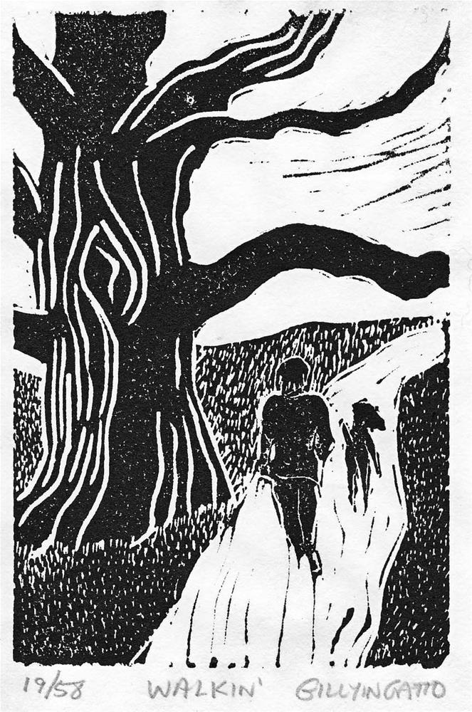 """WALKIN'"" original fine art by Gillyin Gatto"