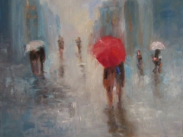 """Too many raindrops"" original fine art by Astrid Buchhammer"