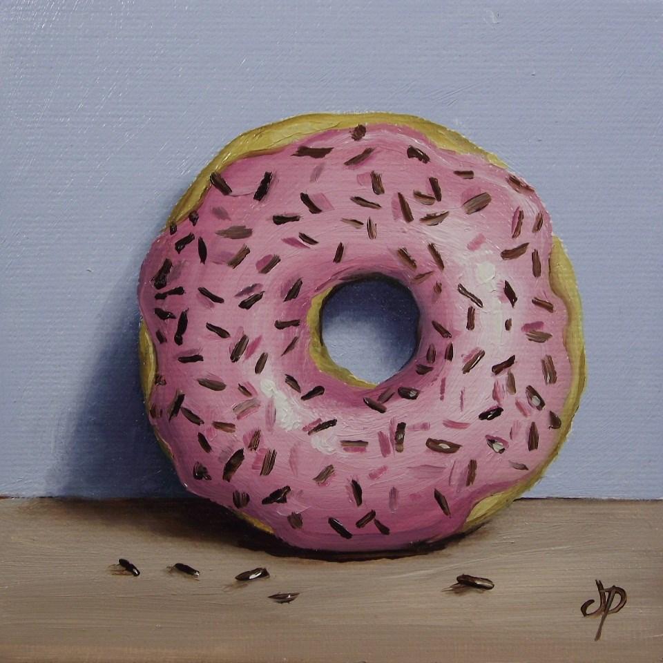 """Little Sprinkle donut"" original fine art by Jane Palmer"