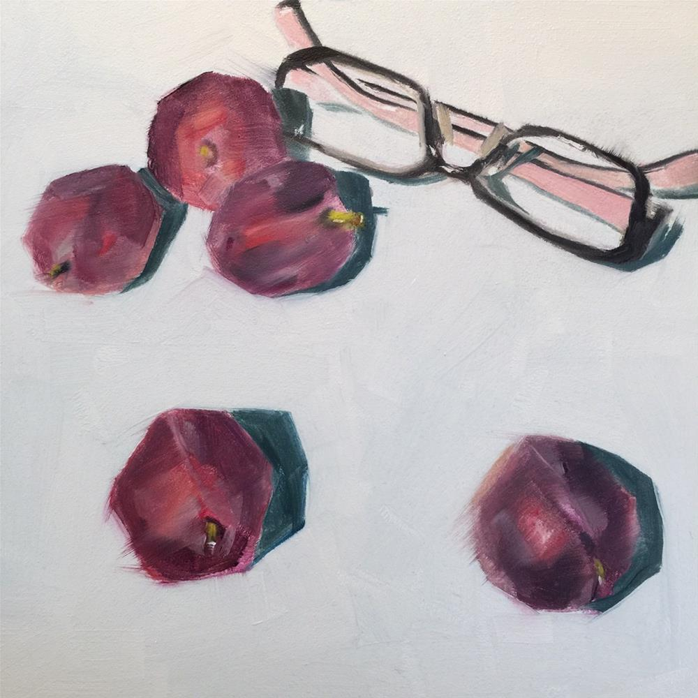 """265 Sweetest Plums"" original fine art by Jenny Doh"