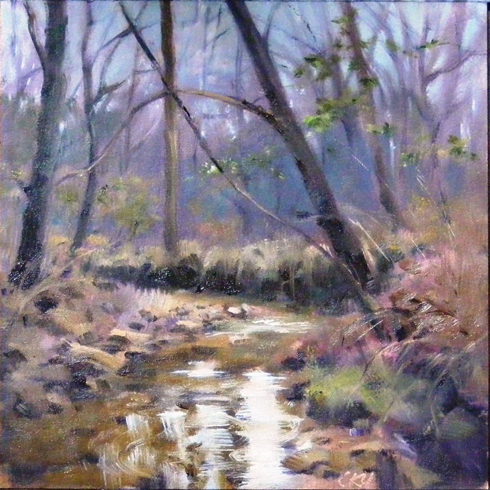 """""""Winter memory"""" original fine art by Celine K.  Yong"""
