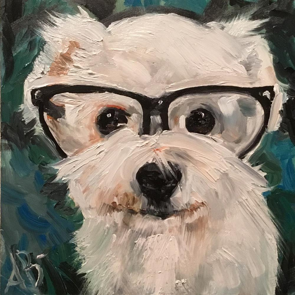 """Busy Bichon"" original fine art by Annette Balesteri"