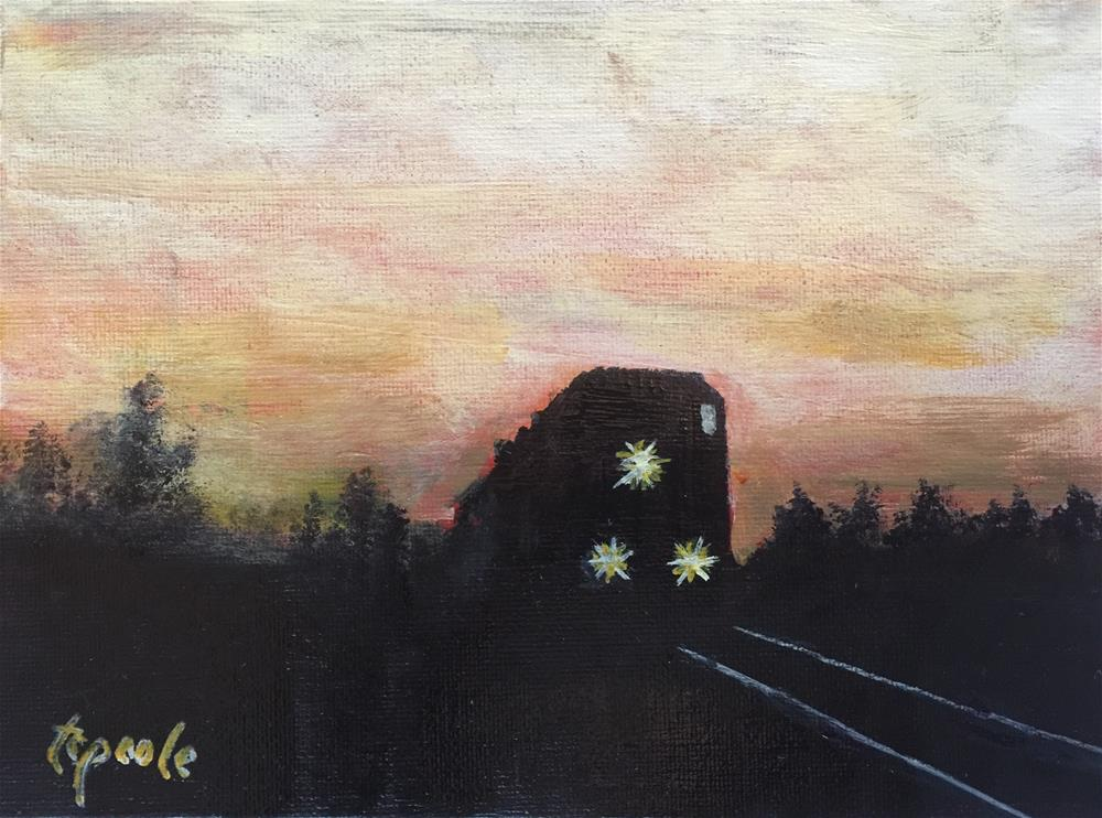 """California Bound "" original fine art by T.C. Poole"
