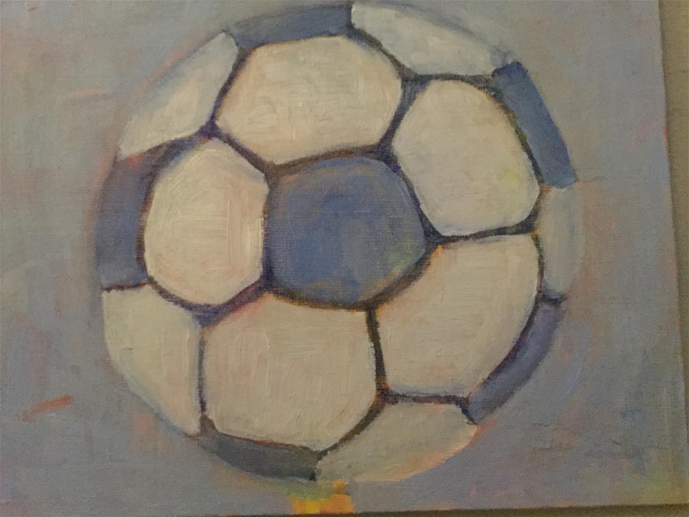 """Jack' soccer ball"" original fine art by pamela kish"