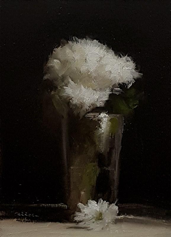 """""""Glass of Mums"""" original fine art by Neil Carroll"""