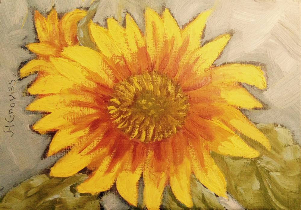 """Sunflower II"" original fine art by J H Graves"