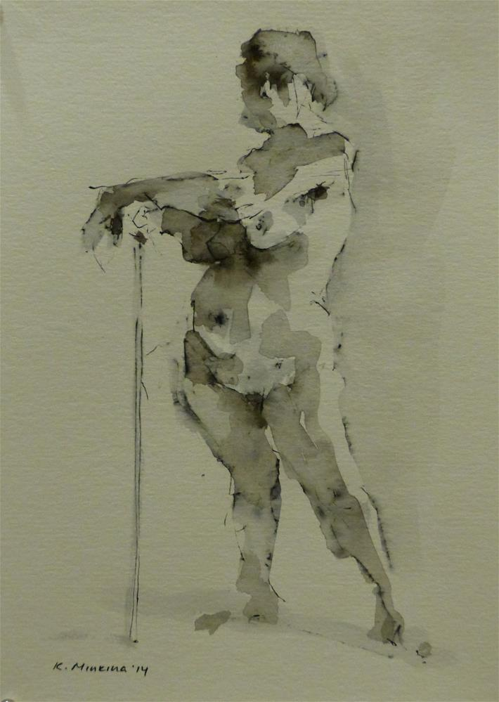 """nude3"" original fine art by Katya Minkina"