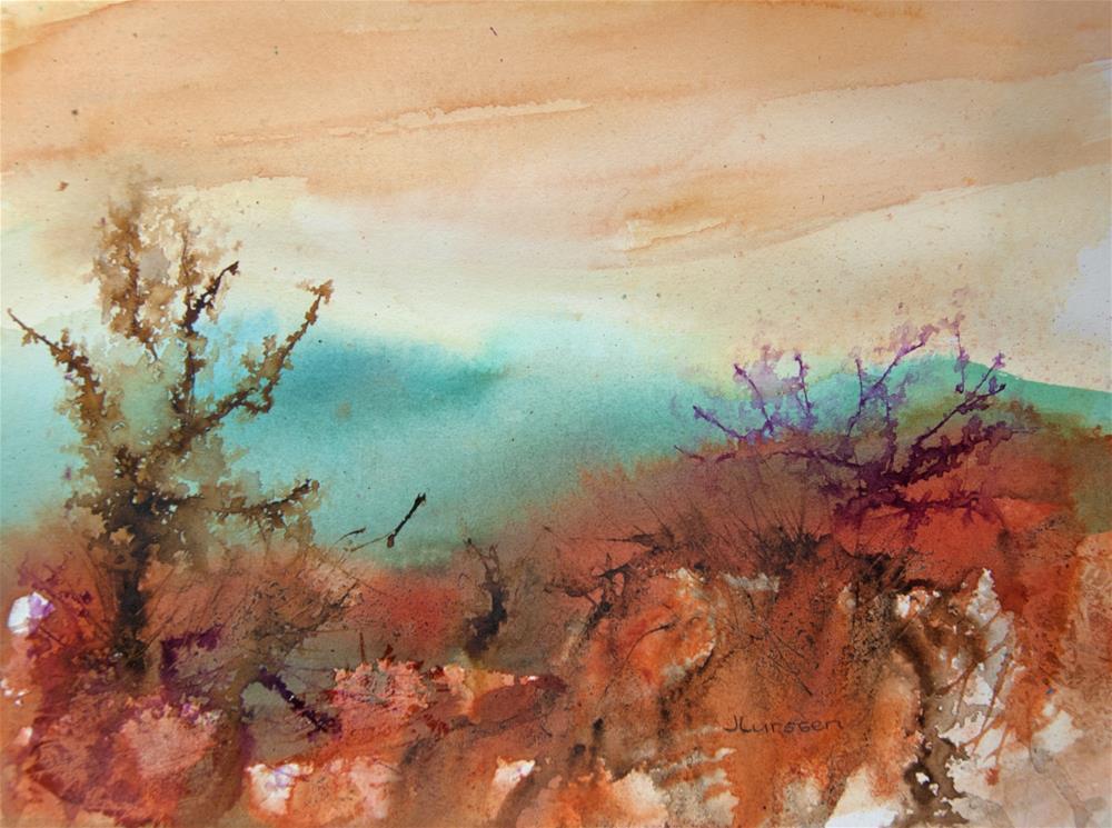 """""""Winter Glow"""" original fine art by Jean Lurssen"""