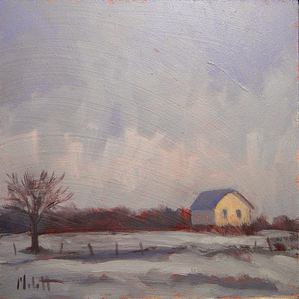 """Winter Comes Early Snowy Landscape Daily Paintings"" original fine art by Heidi Malott"