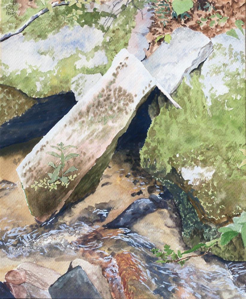 """Rocks & Water VI"" original fine art by Greg Arens"