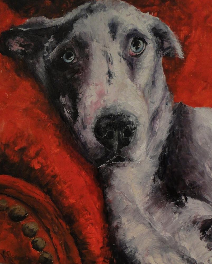 """Great Dane"" original fine art by Karen Robinson"