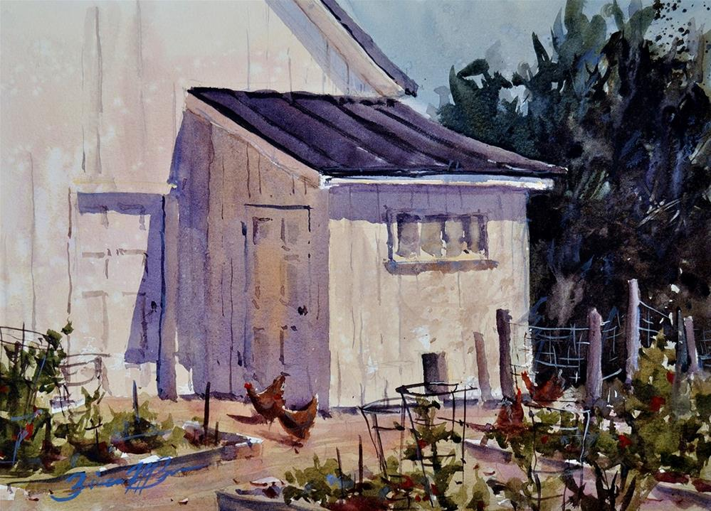 """Jane's Chicken Coup"" original fine art by Brienne M Brown"