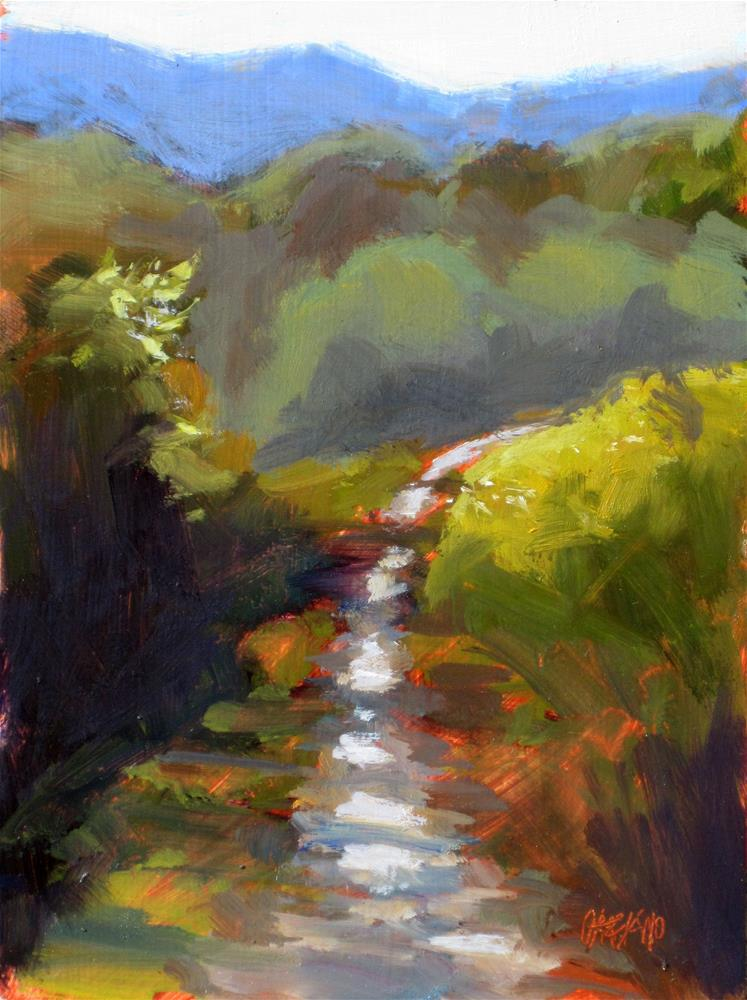 """dappled path"" original fine art by Dan Graziano"