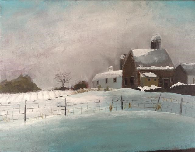 """A Rural Winter"" original fine art by christina glaser"