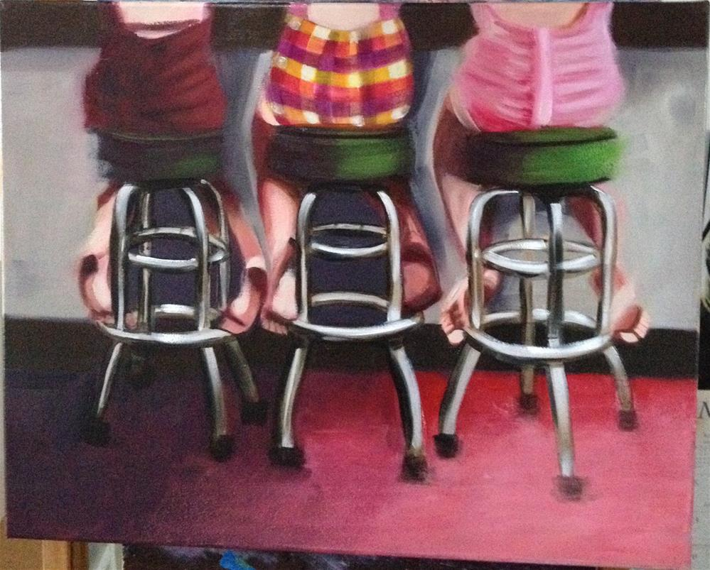 """""""Bistro Bums"""" original fine art by Bev Thibault"""
