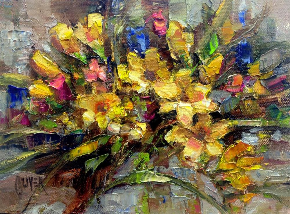 """Freesia Arc"" original fine art by Julie Ford Oliver"