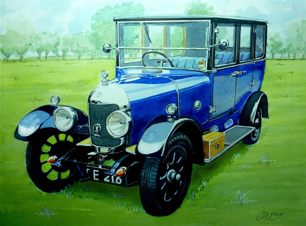 """Bullnose Morris Saloon circa 1925"" original fine art by John Monney"