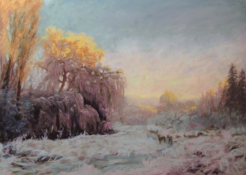 """Sunkist"" original fine art by Ruth Mann"