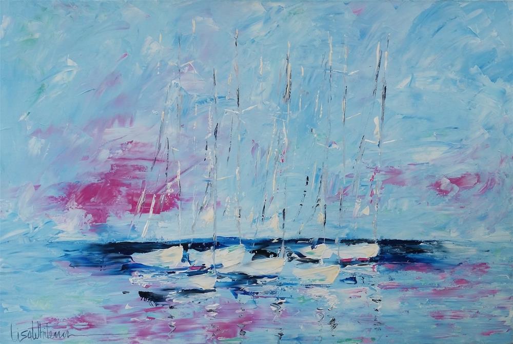 """139 - Seven Seas"" original fine art by Lisa Rogers"