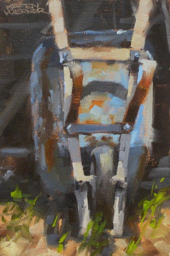 """Wheelbarrow"" original fine art by Karen Werner"