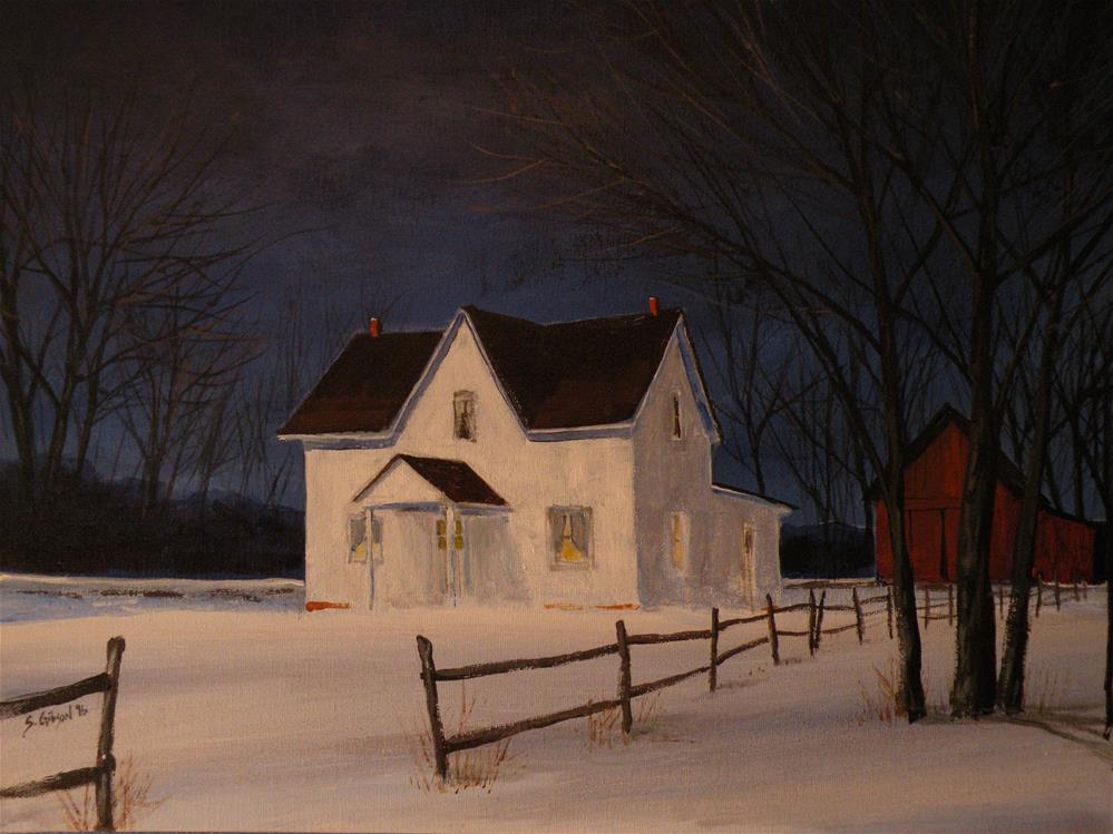 """Gerald Schulze Farm House"" original fine art by Steve Gibson"