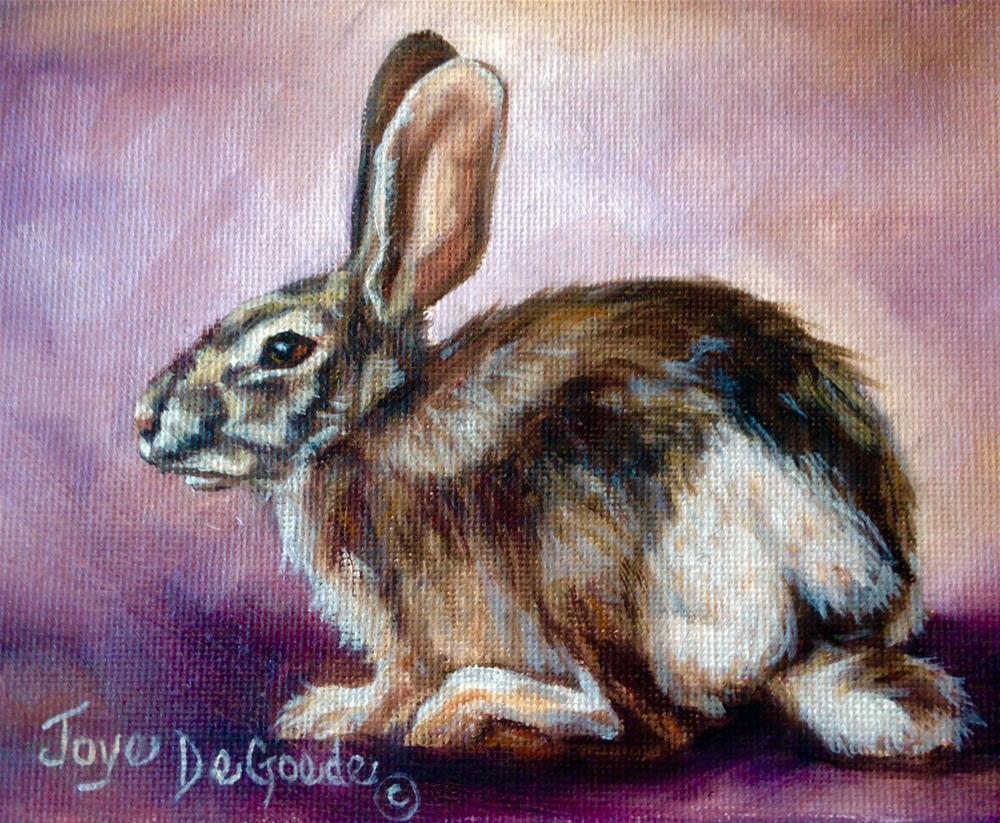 """""""Be Still My Bunny Heart (c) by Joye DeGoede"""" original fine art by Joye DeGoede"""