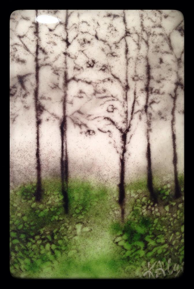 """Misty Trees"" original fine art by Kelly Alge"