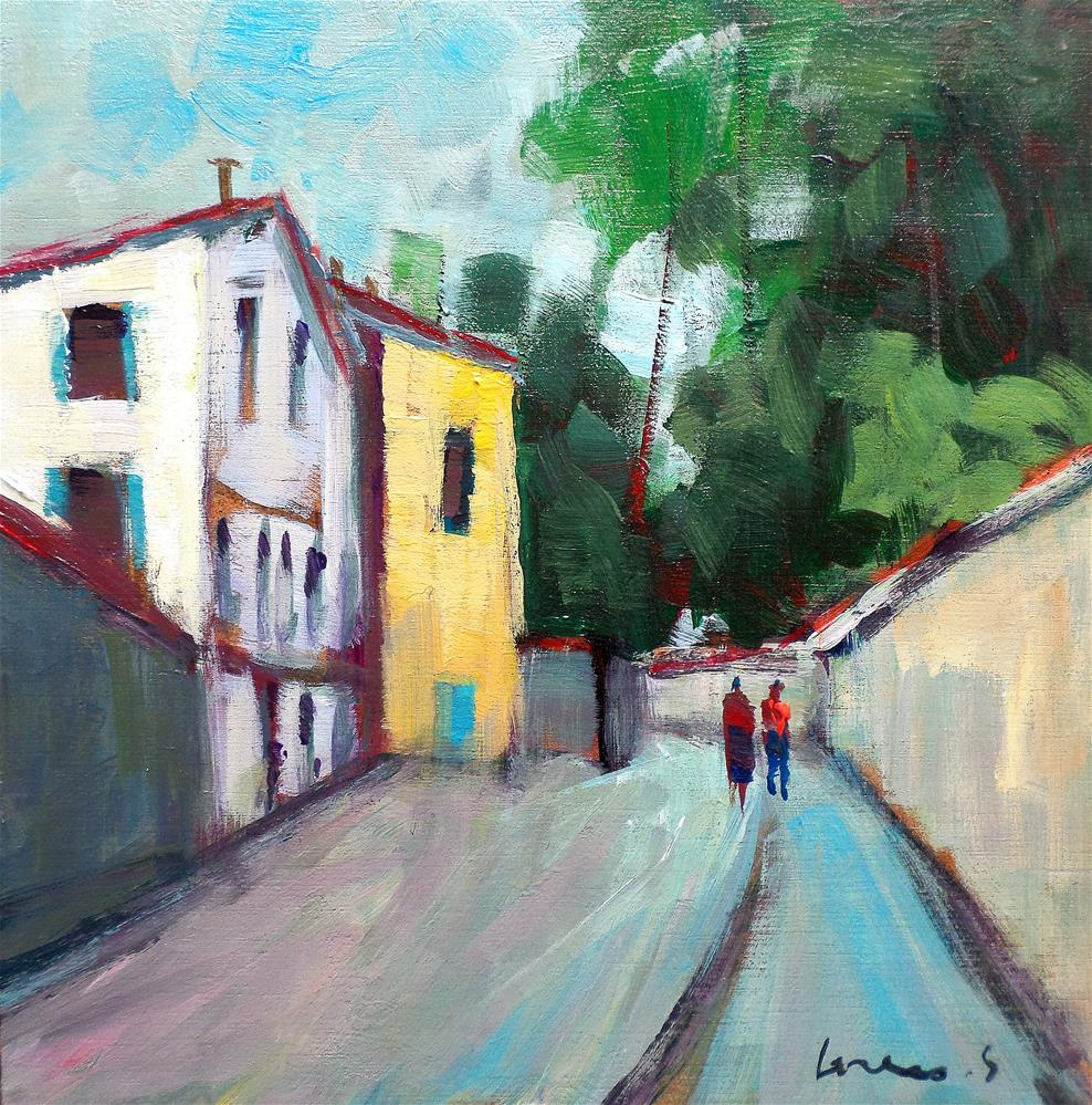 """lane Montmartre paris"" original fine art by salvatore greco"