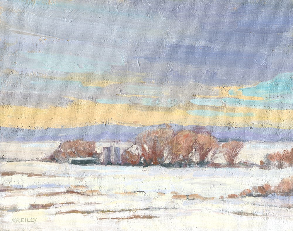 """Winter Fields"" original fine art by Kath Reilly"