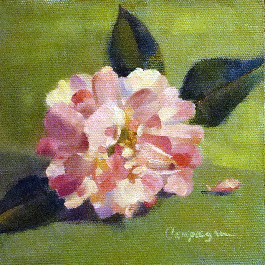 """""""Country Rose"""" original fine art by Roseanne Campagna"""