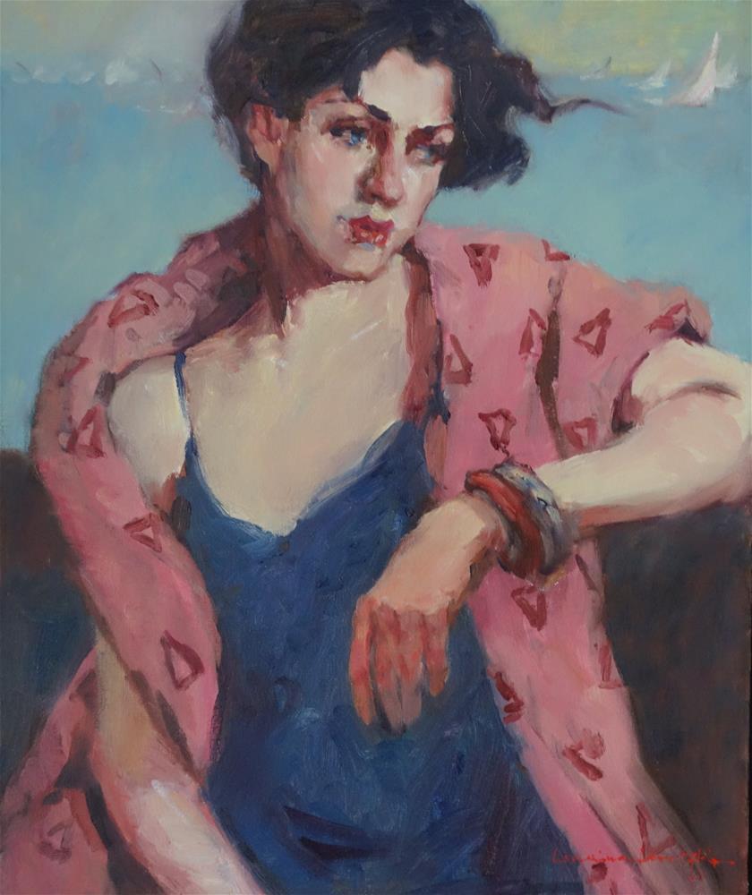 """Pink Towel"" original fine art by Lorraine Lewitzka"