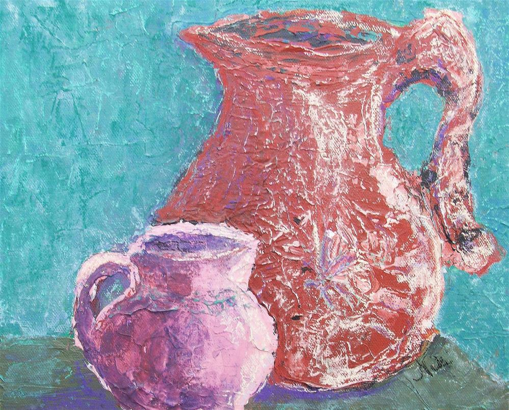 """Big Pitcher, Little Pitcher"" original fine art by Niki Hilsabeck"